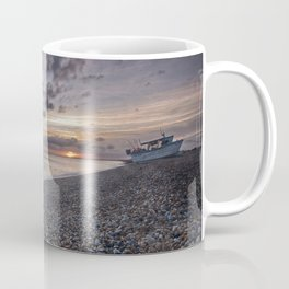 Hythe Beach at Sunset Coffee Mug