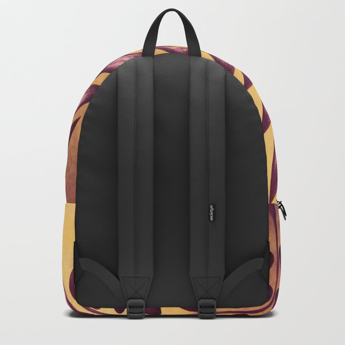 Abstract Plant With Purple Leaves Backpack