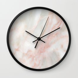 Softest blush pink marble Wall Clock