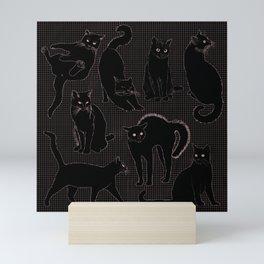Black Cat Fever Mini Art Print
