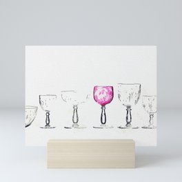 A CUT AND ENGRAVED GLASS SERVICE, BACCARAT CIRCA 1900. watercolor by Ahmet Asar Mini Art Print