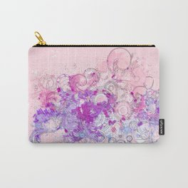 Purple floral swirls Carry-All Pouch