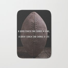 A good coach can change a game Vintage Football Bath Mat