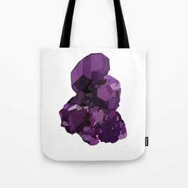 Amethyst Crystal Stone Tote Bag