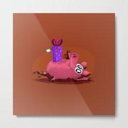 Piggy Birthday Metal Print