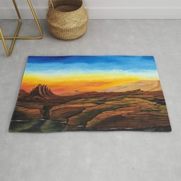 After the rain-desert view Rug