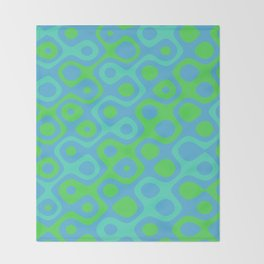 Brain Coral Green Banded - Coral Ree Series 020 Throw Blanket