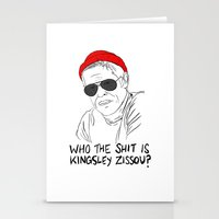 life aquatic Stationery Cards featuring The Life Aquatic - Klaus by Stewart Chown