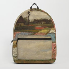 Classic Art - Flower Beds in Holland - Vincent van Gogh Backpack