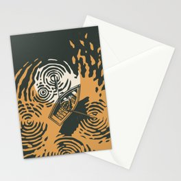 Moon reflection Stationery Cards