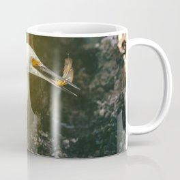 Egret With Prey Coffee Mug