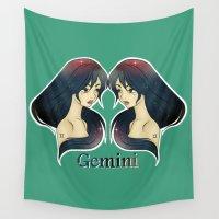 gemini Wall Tapestries featuring Gemini by Jo Sharp