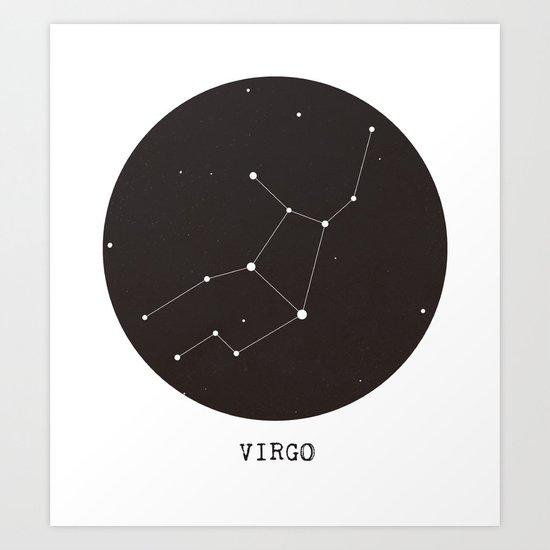 Virgo Star Constellation Art Print By Clarissa Di Nicola