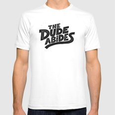 the Dude MEDIUM White Mens Fitted Tee