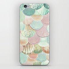 MERMAID SHELLS - MINT & ROSEGOLD iPhone & iPod Skin
