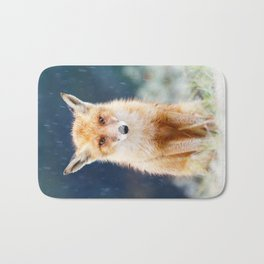 I Can't Stand the Rain (Red Fox in a rain shower) Bath Mat