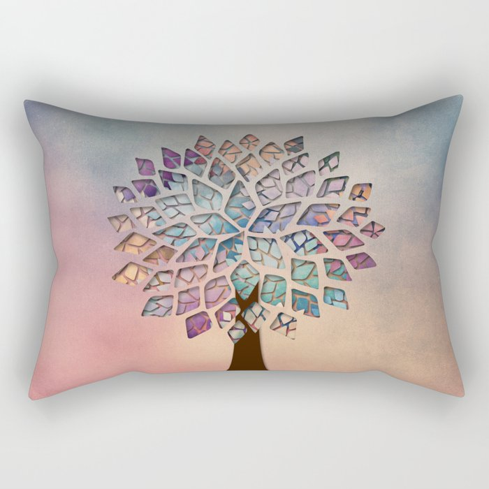 Abstract Petal Tree 2 Rectangular Pillow