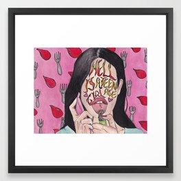 Hell is a Teenage Girl Framed Art Print