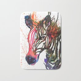 Zebra Splash Bath Mat