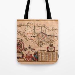 Map Of Jamaica 1671 Tote Bag