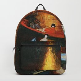 'Fete on the Water with Friends' painting portrait by Florine Stetthimer Backpack
