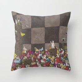 Chicken Pit Throw Pillow