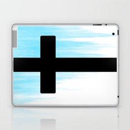 Ombre - Blue - Cross Laptop & iPad Skin