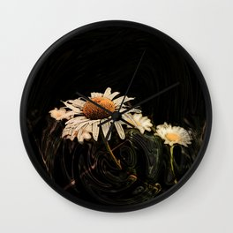 Camomile in pattern Wall Clock