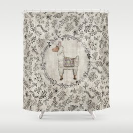 Lala Llama Shower Curtain