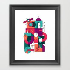 Time Machine Framed Art Print