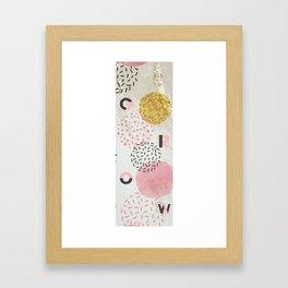 Yoga Mat - Grow | Pink & Gold Glitter Dots Framed Art Print