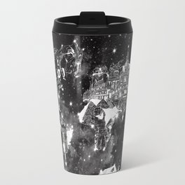 world map galaxy black and white Travel Mug