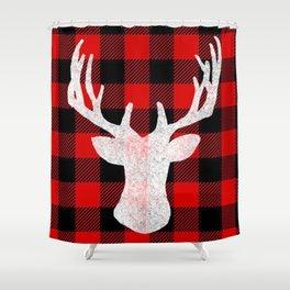 Deer Flannel Shower Curtain