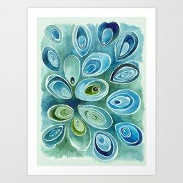 Blue Oyster Art Print