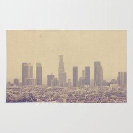 Southland. Los Angeles skyline photograph Rug