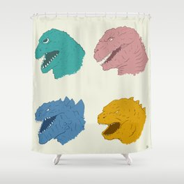 Godzilla Evolution Shower Curtain