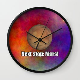 Next stop: Mars! Wall Clock