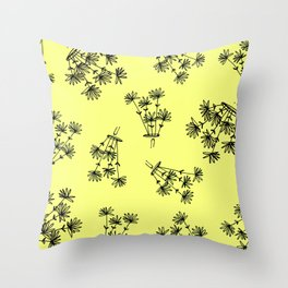 yellow flower eaters Throw Pillow