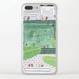 Green Riad Clear iPhone Case