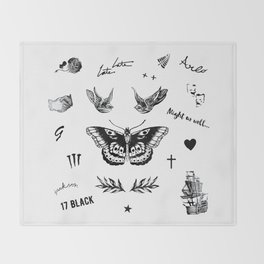 Harry's Tattoos Two Throw Blanket