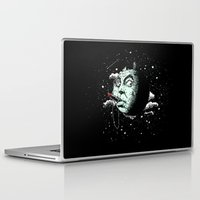 dark side Laptop & iPad Skins featuring The Dark Side by victor calahan