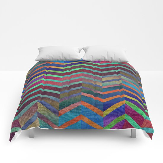 Color Transition Chevron Comforters
