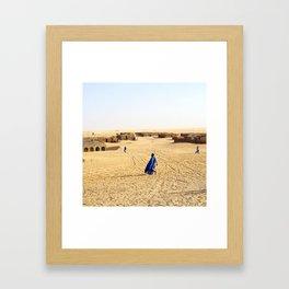 Blue Men of Mali Framed Art Print