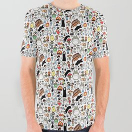 Kawaii Ghibli Doodle All Over Graphic Tee