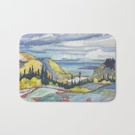 Canadian Landscape Watercolor Painting Franklin Carmichael Art Nouveau Bath Mat