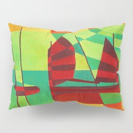 Chinese Junks On Still Waters Pillow Sham