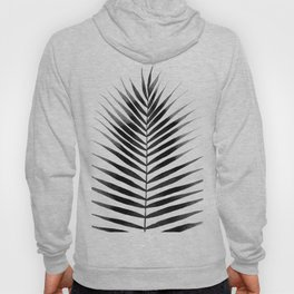 Palm Leaf Watercolor   Black and White Hoody