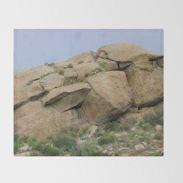 Rock Face Throw Blanket