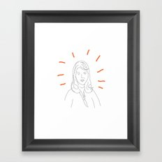 t0 sylvia plath Framed Art Print