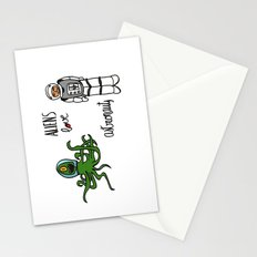 Aliens love astronauts Stationery Cards
